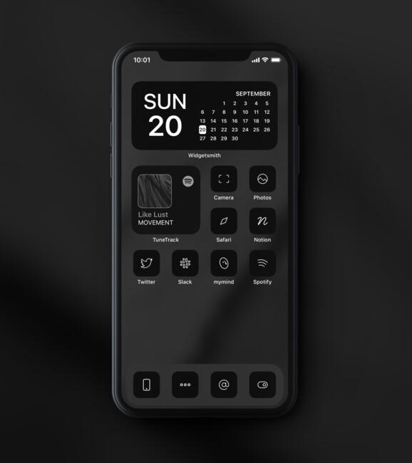Пример оформления интерфейса iOS 14