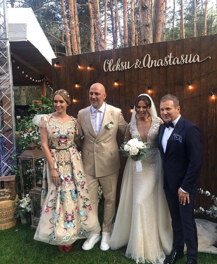 Катя Осадчая и Юрий Горбунов на свадьбе Насти и Потапа