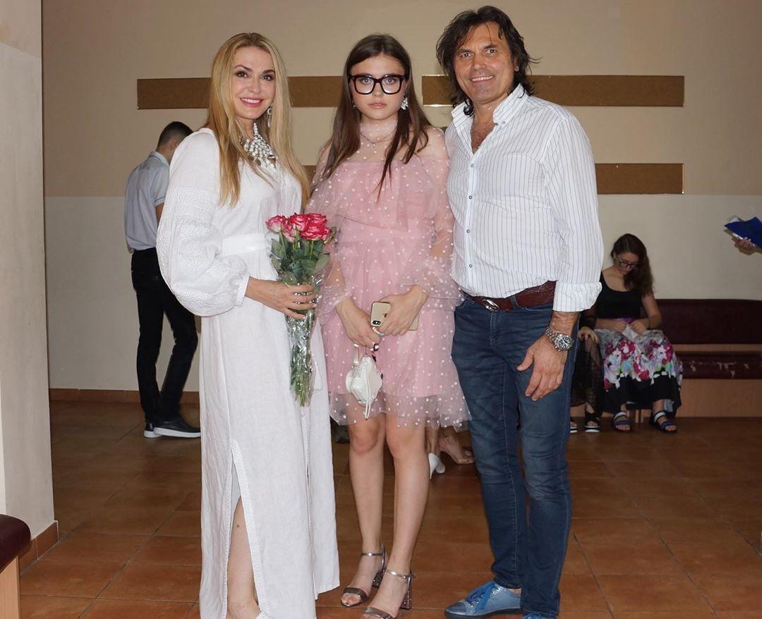 Ольга Сумская с мужем и младшей дочерью
