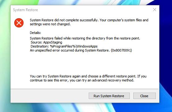 Появление частых и странных ошибок может исправить переустановка Windows