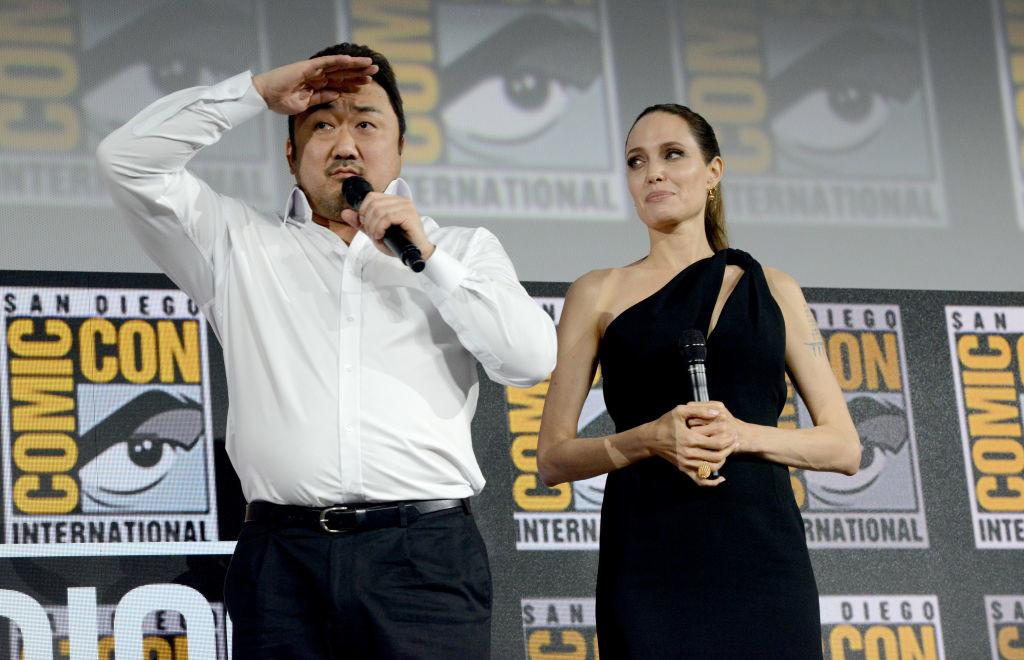 Анджелина Джоли и Дон Ли на фестивале Comic Con