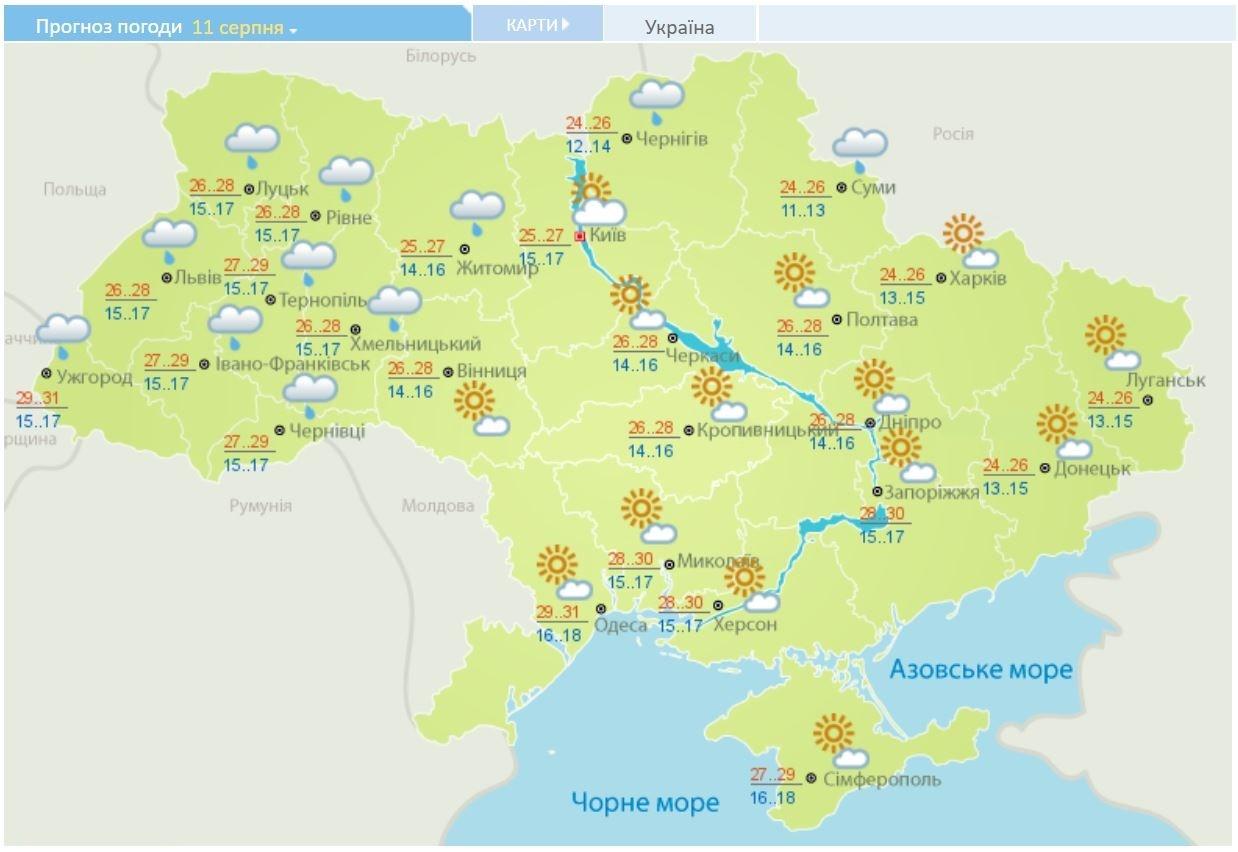 Летний зной вернулся в Украину: карты температур и осадков на неделю, фото-3