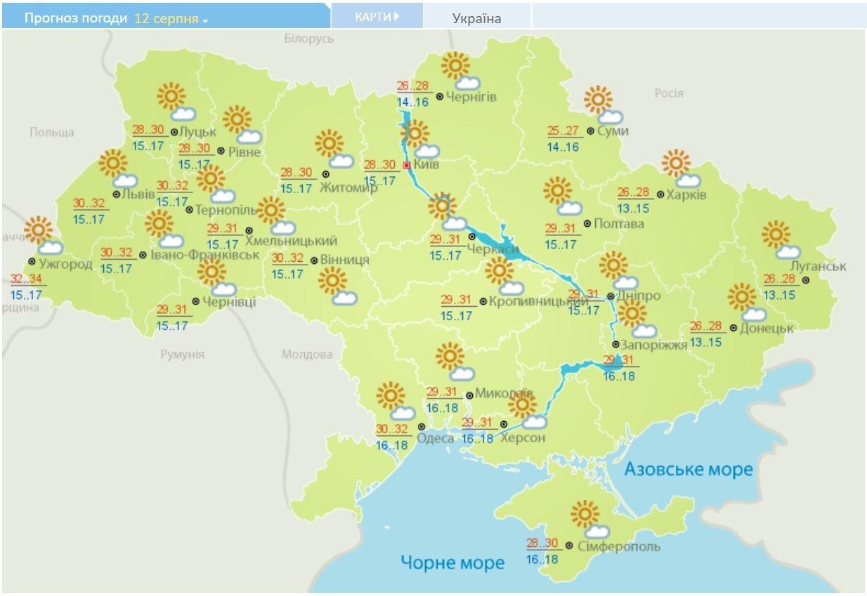 Летний зной вернулся в Украину: карты температур и осадков на неделю, фото-4