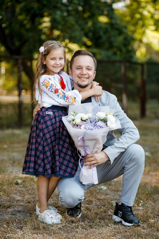 Шоумен Артем Гагарін з донькою Поліною