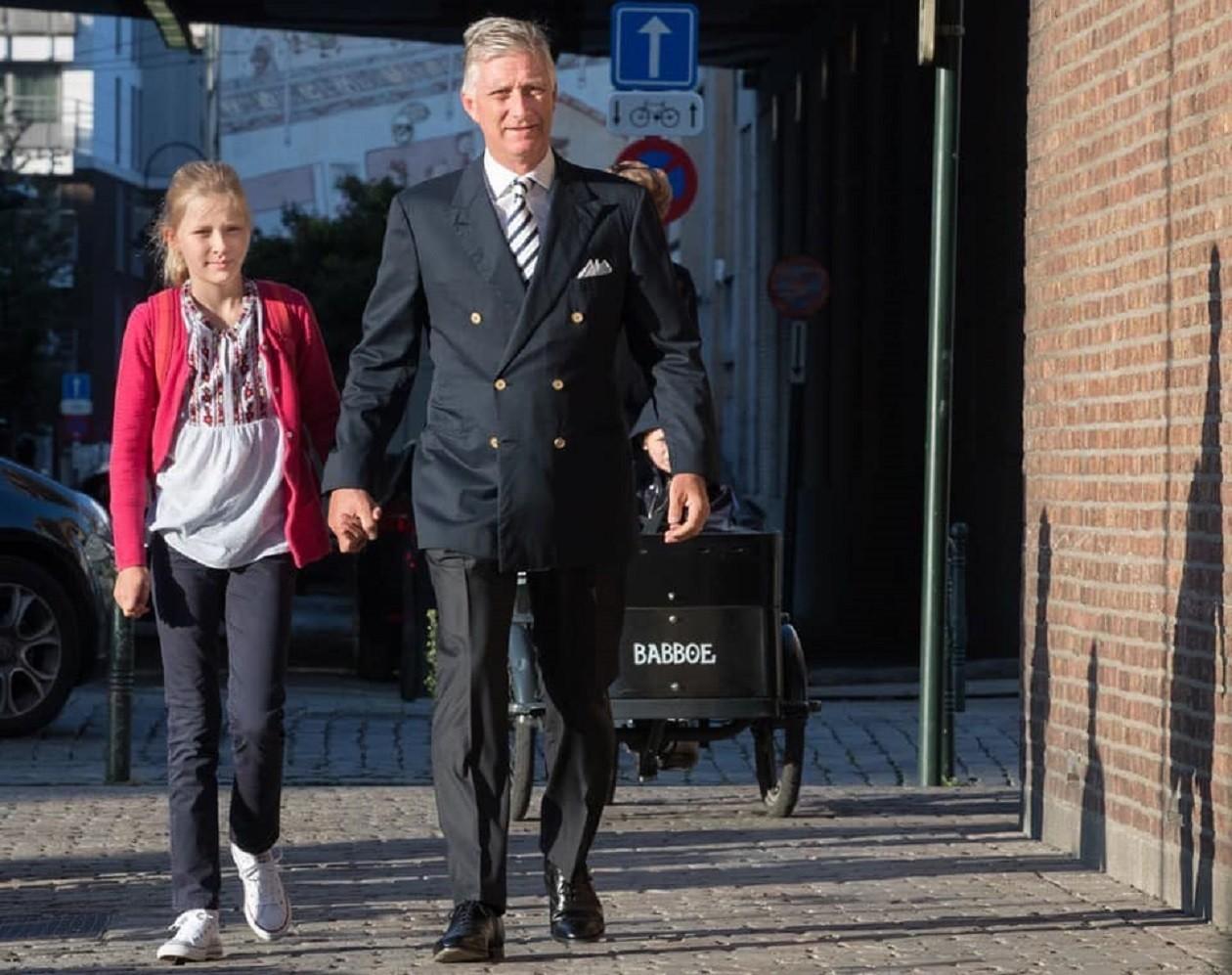 Бельгійська принцеса Елеонора з батьком
