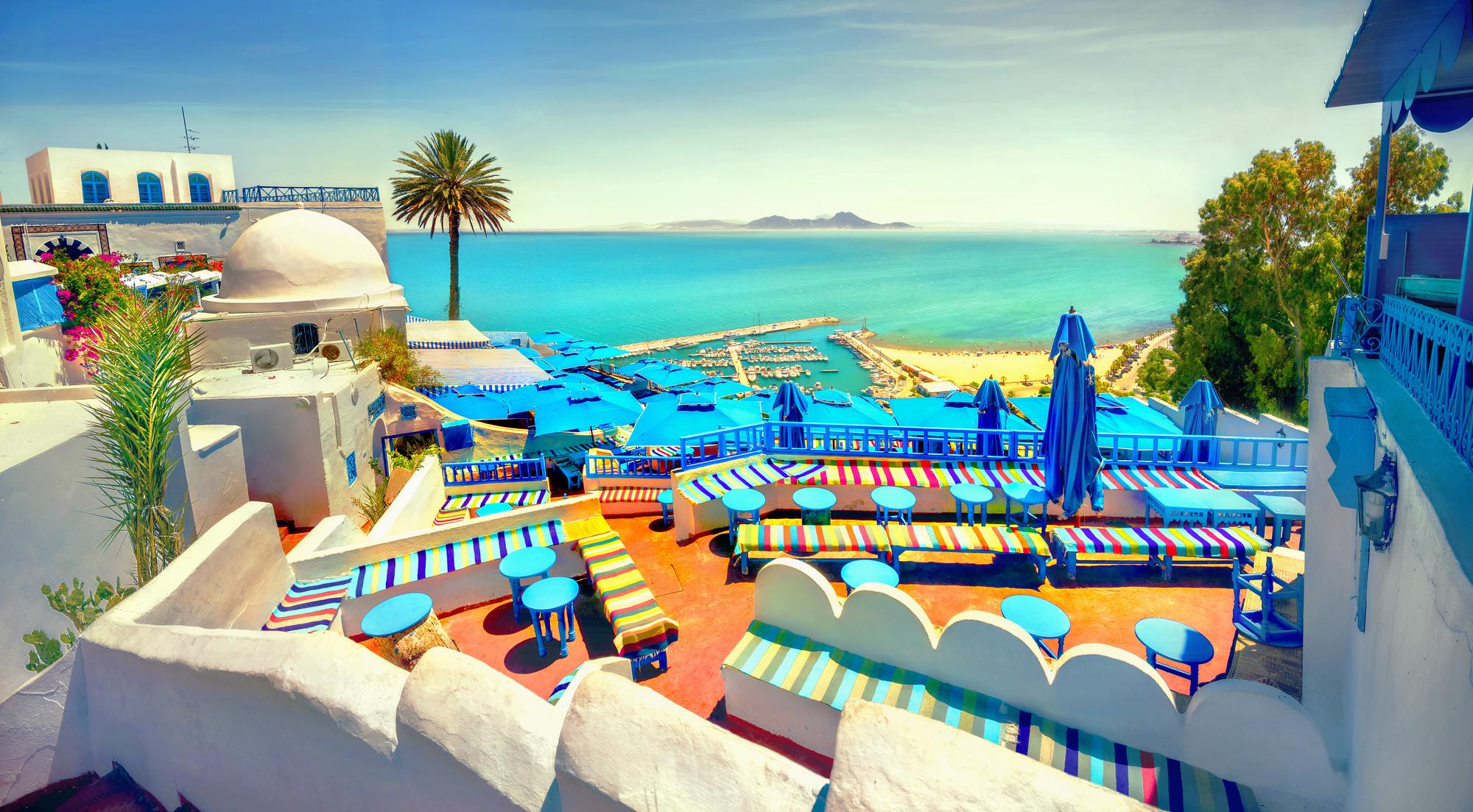 Панорама в Сиди-Бу-Саид, Тунис