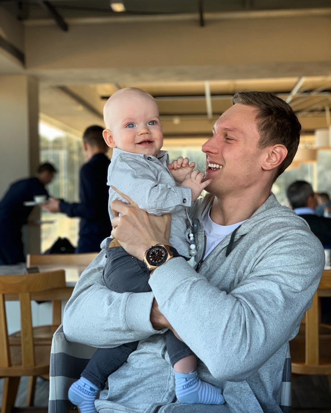 Янис Тимма с сыном
