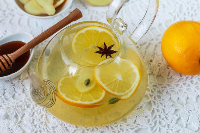 Чай из имбиря с апельсином