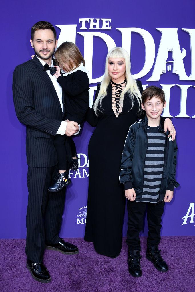 Кристина Агилера со своей семьей