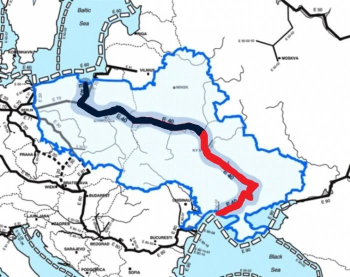Маршрут Е-40. Фото: epl.org.ua