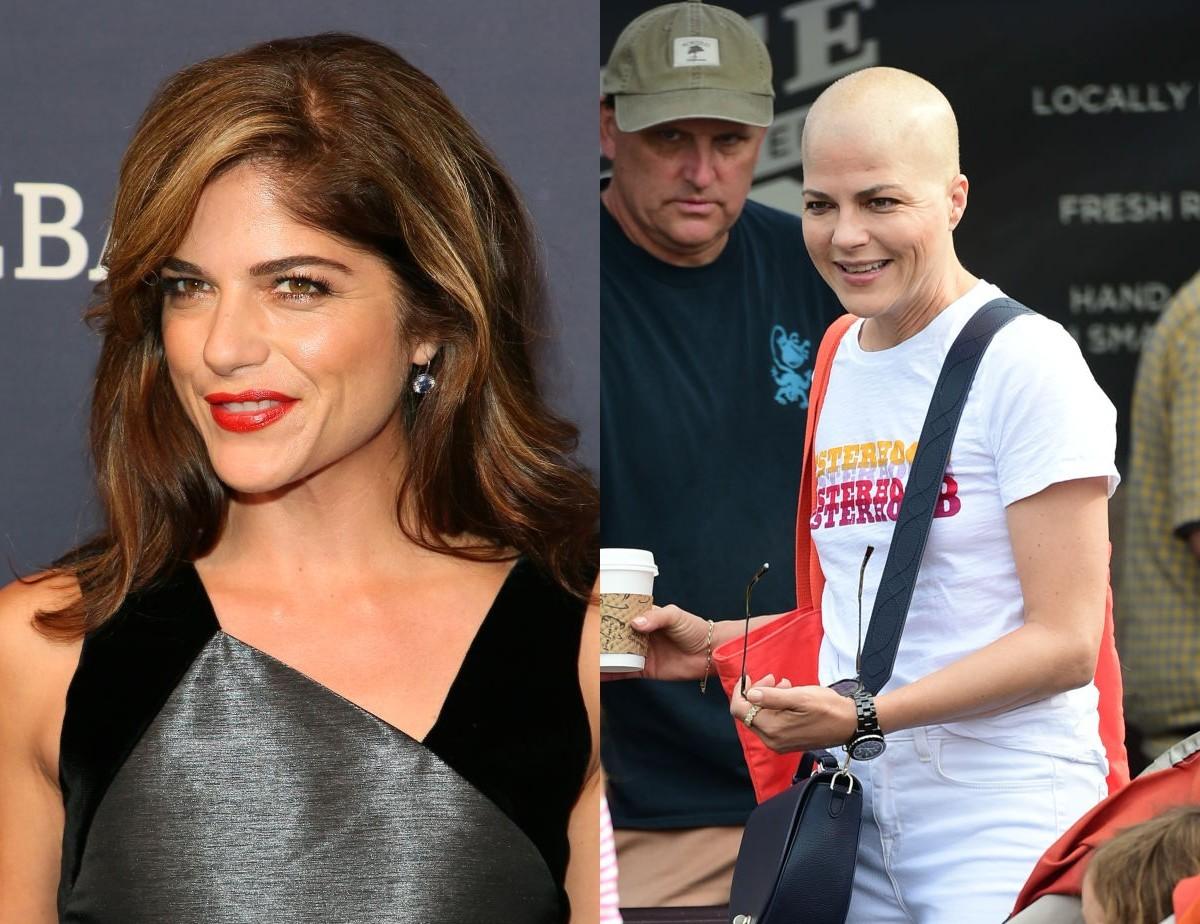 Сэльма Блэр до и после химиотерапии