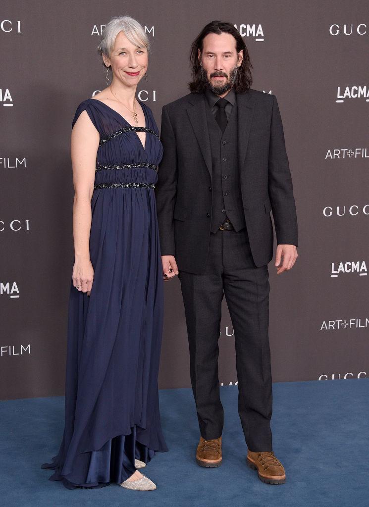 Голливудский актер с художницей на гала-вечере