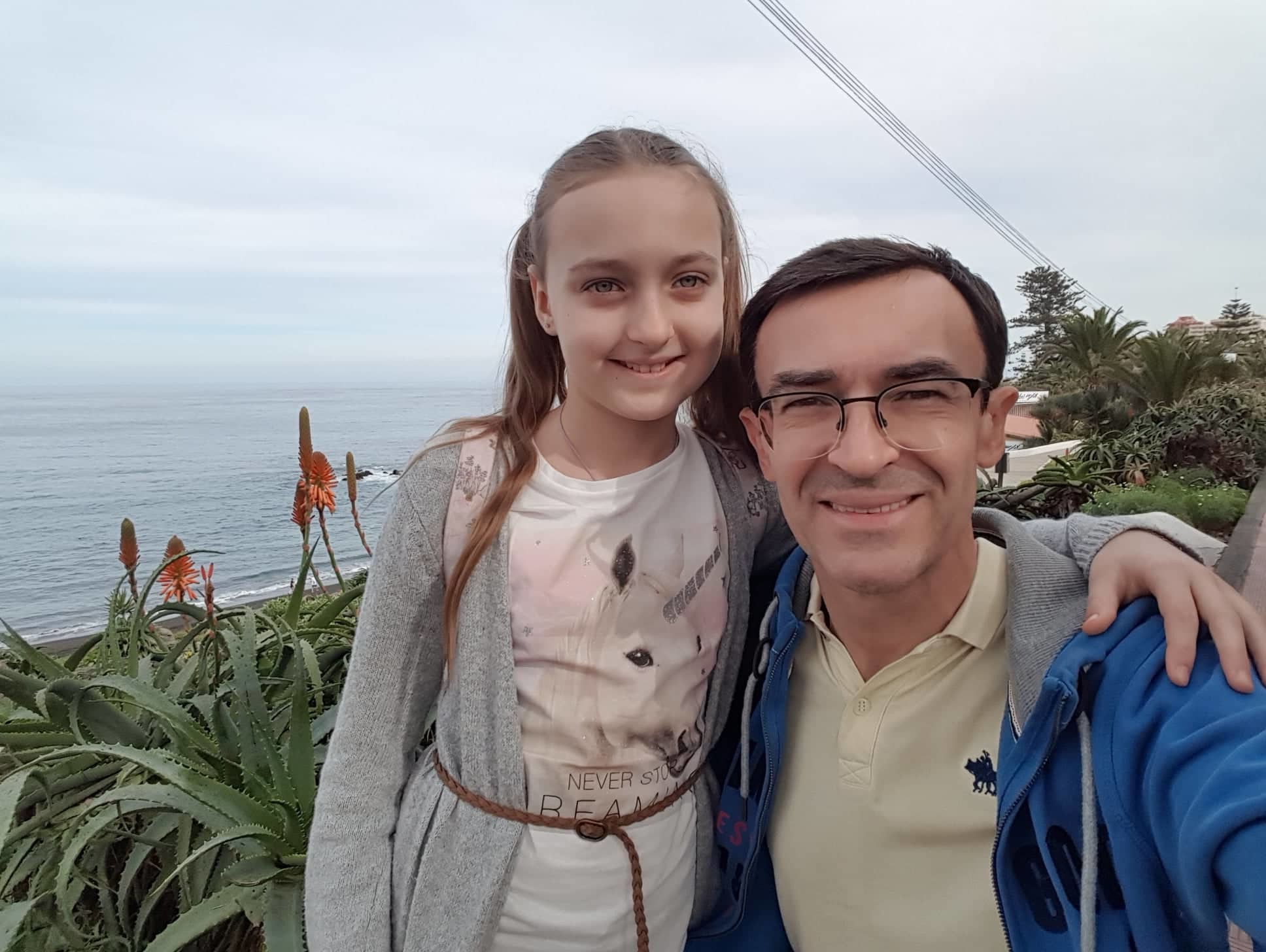 Олег Панюта с дочерью