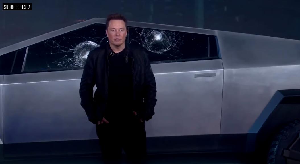 Стекла Tesla Cybertruck не выдержали попадание металлическим шариком