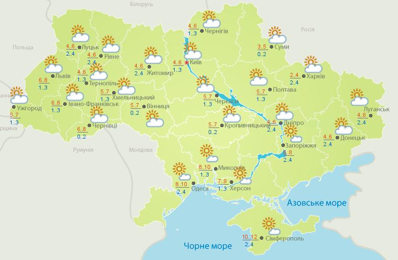 Тепло и дожди: прогноз погоды в Украине