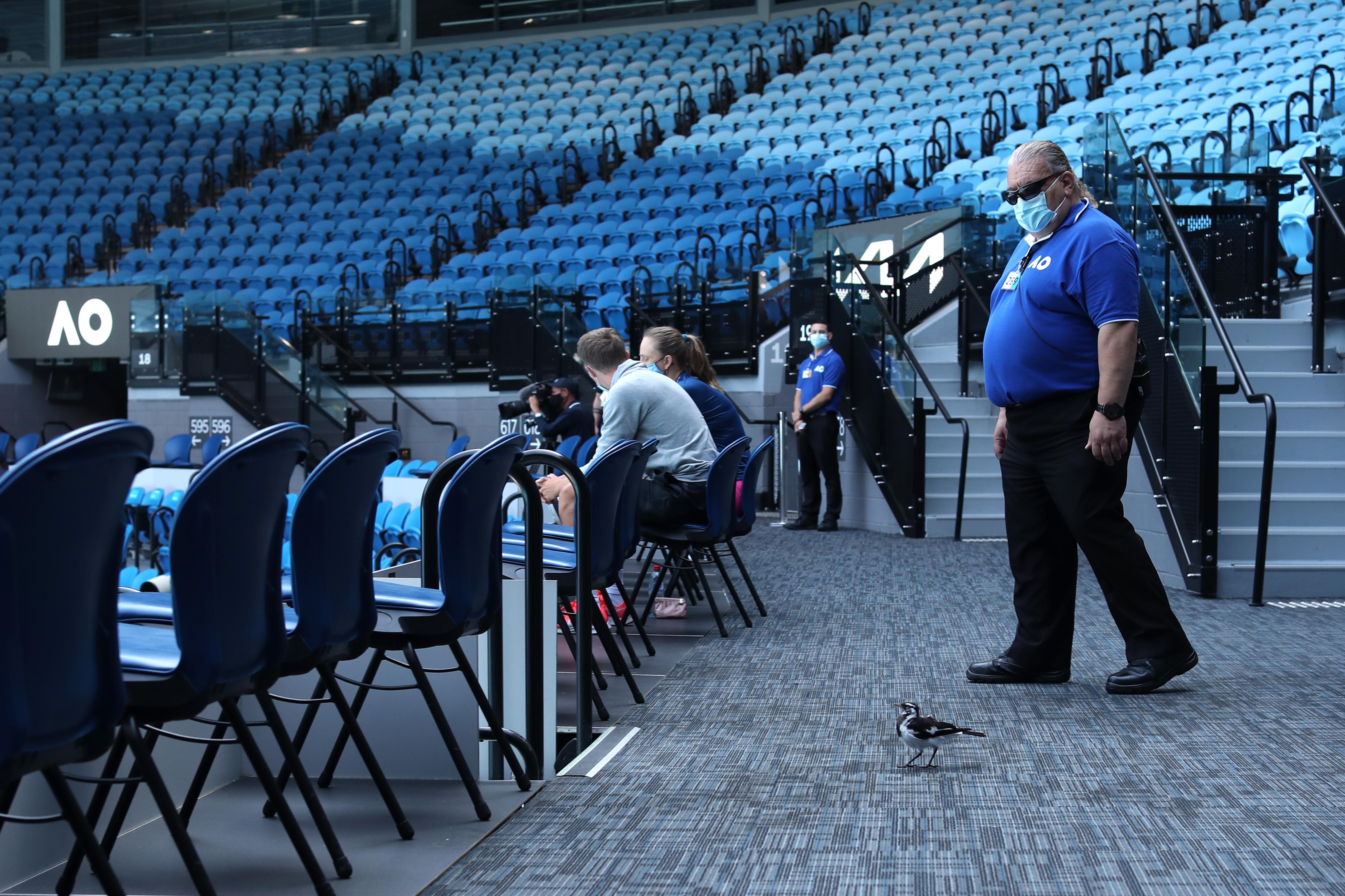 Как выглядит матч Australian Open без зрителей. Фоторепортаж из Мельбурна