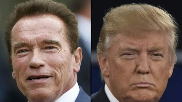 Шварценеггер и Трамп. Фото: AFP