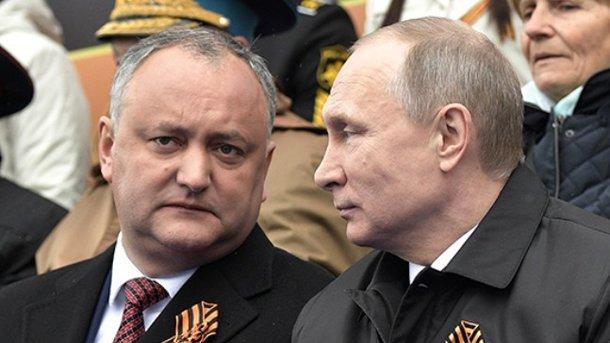 Игорь Додон и Владимир Путин. Фото: ТАСС