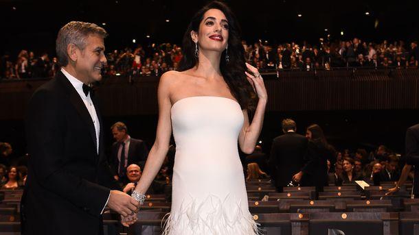 Джоржд и Амаль Клуни, фото AFP