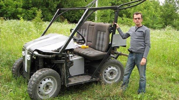 Украинский бюджетный трактор-вездеход, собранный в Тернополе. Фото: te.ridna.ua