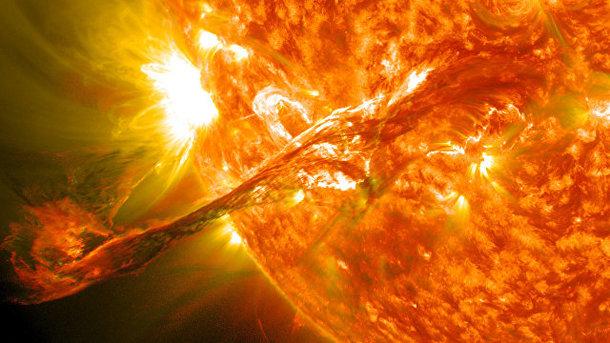 Вспышка на Солнце. Фото: NASA