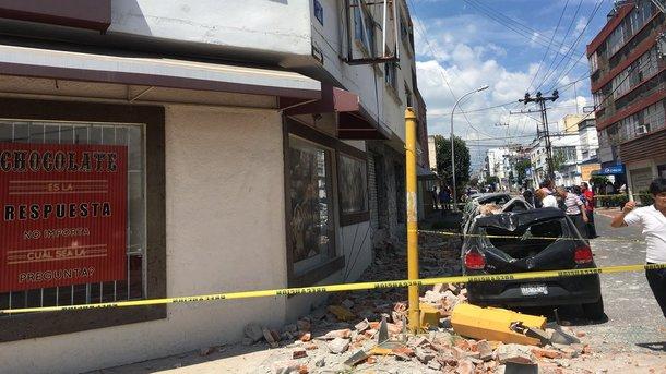 Землетрус в Мексиці. Фото: twitter.com/SkyAlertMx