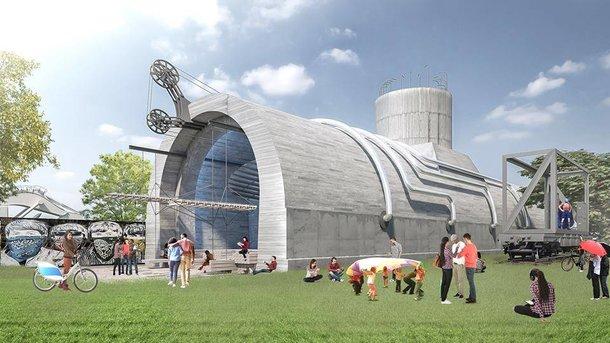 Место для творчества. В кессоне планируют создать разноуровневые площадки и проводить выставки. Фото: ОО «Парк Наталка»