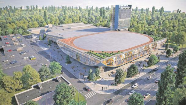 Спорткомплекс. Рядом с ледовой ареной хотят возвести здание с залами для разных видов спорта и отель. Фото: facebook.com