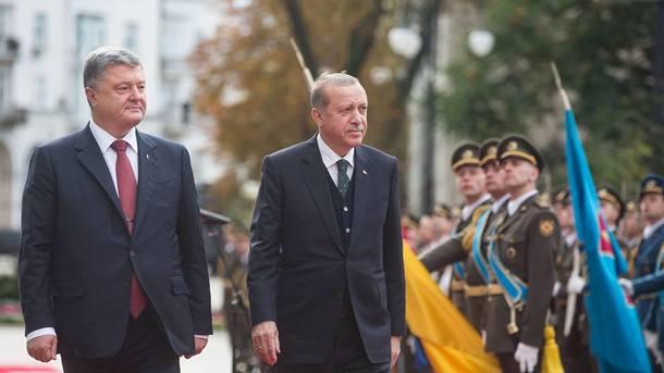 Петр Порошенко и Раджеп Эрдоган. Фото: facebook.com/svyatoslav.tsegolko