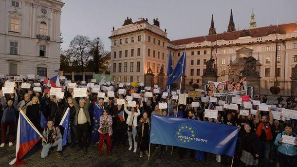 Пражане призвали не воспринимать слова Земана как мнение всех чехов. Фото: Чешское радио