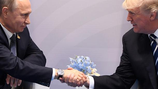 Дональд Трамп і Володимир Путін,
