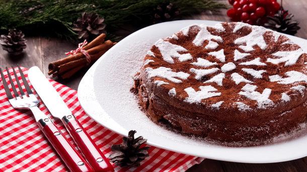 Торт на Рождество Фото: depositphotos.com