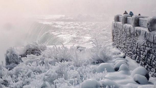 В США частично замерз Ниагарский водопад (фото) - Новости