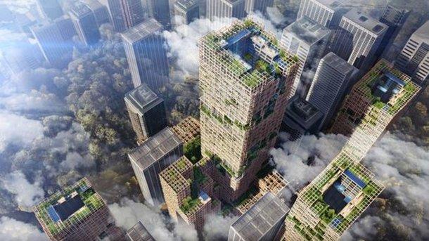 70 этажей из дерева посреди мегаполиса. Фото: asia.nikkei.com
