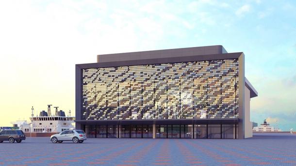 Проект фасада Одесского морского вокзала. Фото: uspa.gov.ua