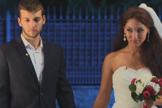 Даріана Семідоцька з нареченим. Кадр з відео