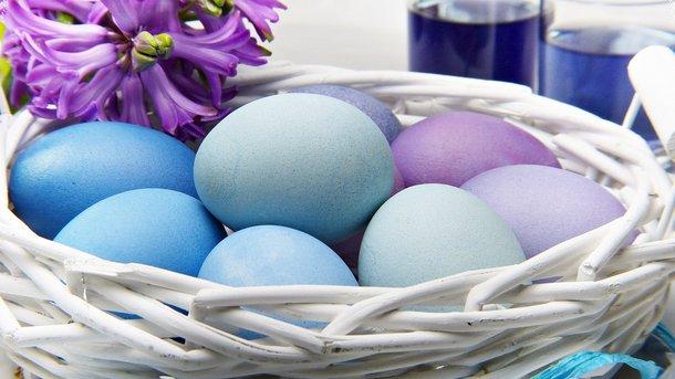Голубые крашенки на Пасху Фото: pixabay.com
