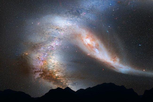 Источник находится прямо в космосе. Фото: pixabay