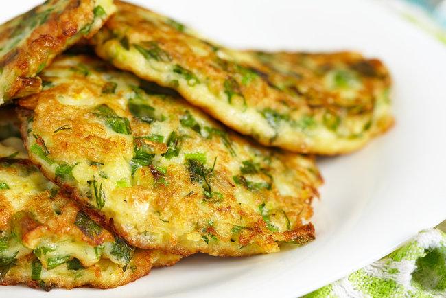 Оладьи с зеленым луком на кефире - рецепт приготовления с фото   СЕГОДНЯ
