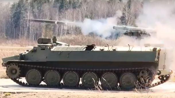"""ПТРК """"Штурм-С"""" на бронемашине. Фото: скриншот"""