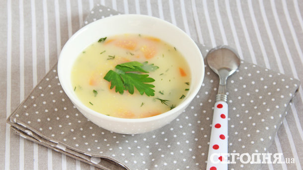 Куриный суп с полентой Фото: Ирина Павлина