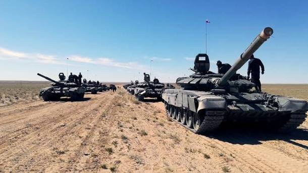 Российские танки. Фото: facebook.commod.mil.rus