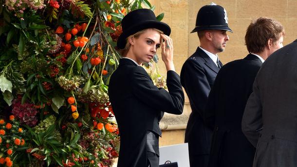Кара Делевінь на весіллі принцеси Євгенії. Фото: AFP