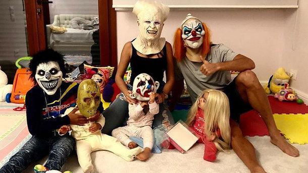 Криштиану Роналду с девушкой и детьми. Фото instagram.com/cristiano