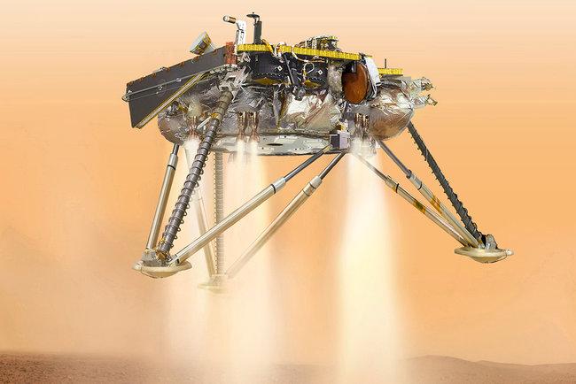 Зонд NASA InSight готовится совершить посадку в 21:00 по киевскому времени. Фото: NASA