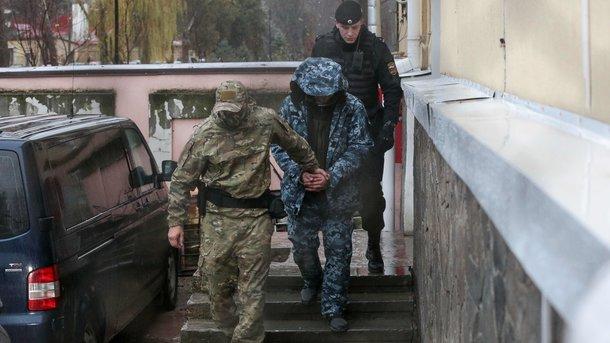 Один из захваченных украинских моряков. фото AFP