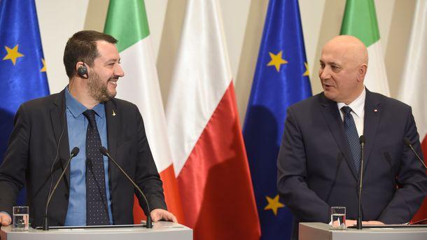 Маттео Сальвини и Йоахим Брудзински, фото AFP