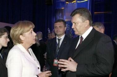 Ангела Меркель и Виктор Янукович, фото for.ua