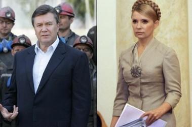 Юлия Тимошенко и Виктор Янукович, фото Фокус.