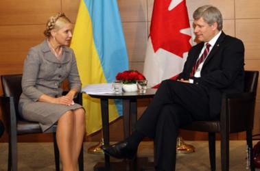 Тимошенко благодарит премьера Канады и украинскую диаспору, фото с сайта byut.com.ua
